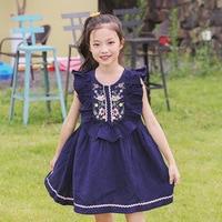 2018 Summer Children Dress Embroidered Cotton S Korean Kids Girls Princess Dress A Generation