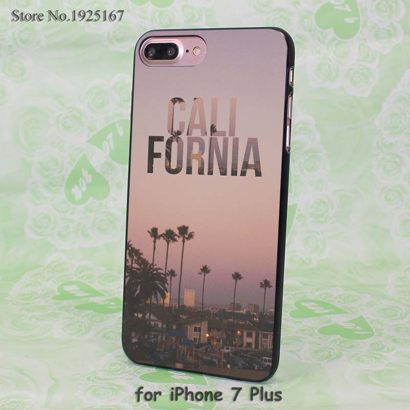 California Golden Gate design hard black Case Cover for Apple iPhone 7 6 6s Plus SE 5 5s 5c 4 4s