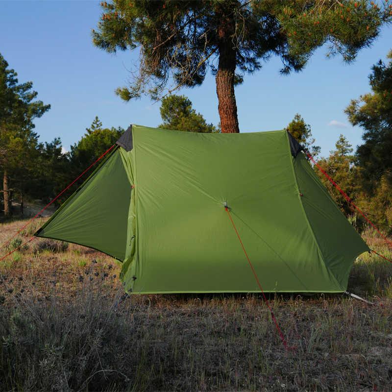 2019 LanShan 1/2 FLAME'S CREED 1/2 คน Oudoor Ultralight Camping เต็นท์ 3 ฤดู Professional 15D Silnylon Rodless เต็นท์