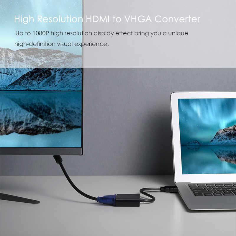 SUPTEC HDMI لمحول VGA تحويل ل PS4 صندوق تلفزيون محمول إلى PC شاشة التلفزيون العارض الرقمية إلى التناظرية الفيديو الصوت 1080 P محول