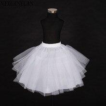 Коллекция 2018 года, бесплатная доставка, высокое качество, в наличии, трехслойное белое платье трапециевидной формы с цветочным узором для девочек, юбка-американка, детская юбка-американка, Нижняя юбка