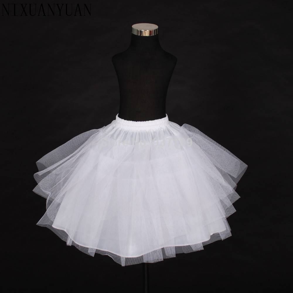 4005188803673a 2018 geben Verschiffen Hochwertiges Lager Drei Schicht Netto Weiß A-linie  Blumenmädchen Kleid Petticoat/