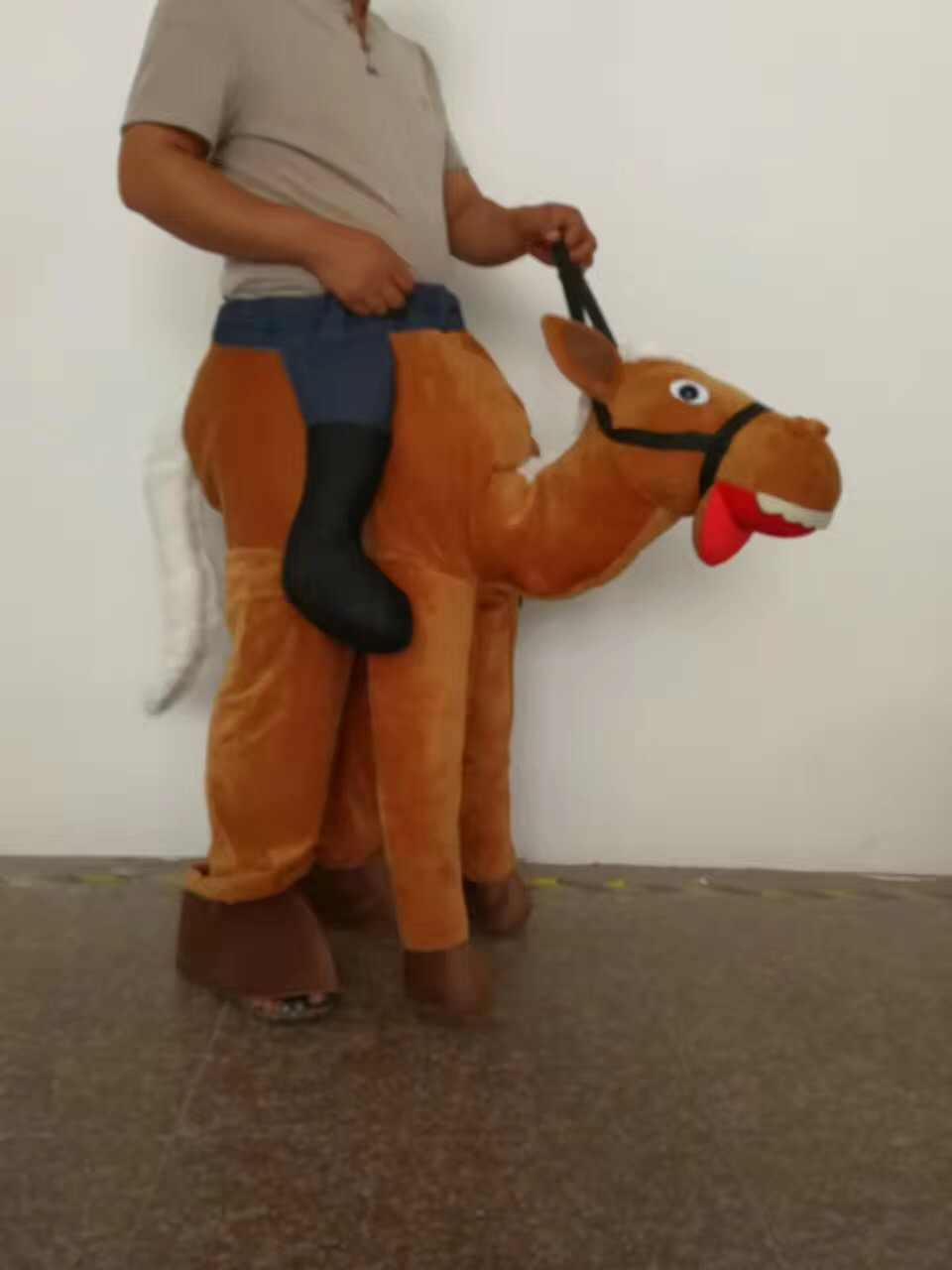 ... Ride A Horse Deluxe Adult Costume Cowboy Cosplay Mascot Costumes New  Year Costume Adult Horse ride ...