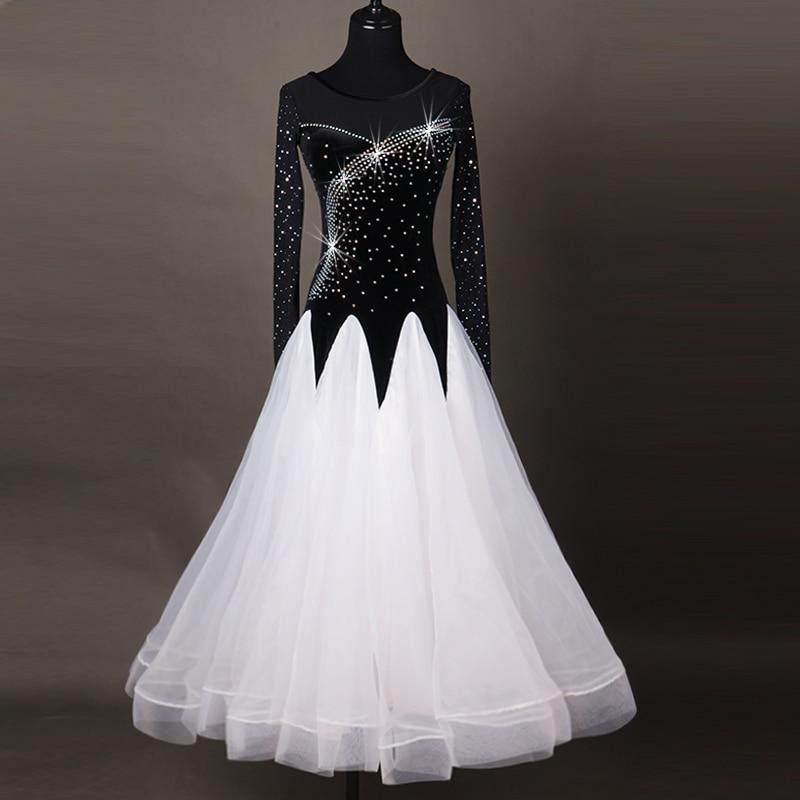 sequins ballroom dance dresses standard ballroom dancing clothes Competition standard dance dress waltz foxtrot dress children