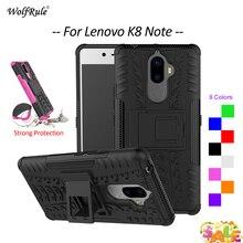 For Cover Lenovo K8 Note Case WolfRule TPU & PC Holder Armor Bumper Protective Back Phone Case For Lenovo K8 Note Cover 5.5'' все цены