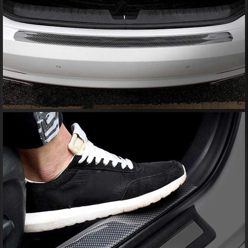 1 шт. стикер на дверь автомобиля 4D углеродный волокнистый слой резины подоконник протектор бампер Защита края 5x25 см