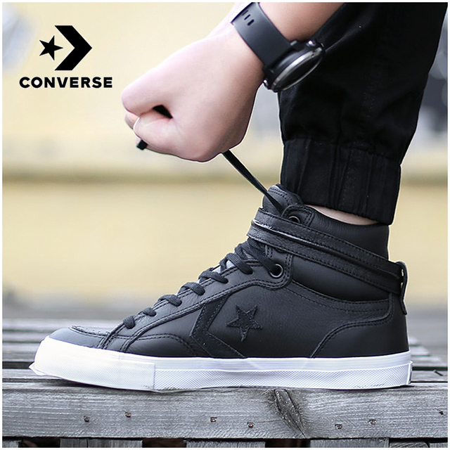a2e438b7cf80d8 CONVERSE Magic Stick Men s Shoes High Leather Thermal Canvas Shoes Hook  Loop Increase Internal Waterproof Leisure Shoes 154177