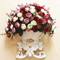 European wall hanging angel ornament vase flower pot