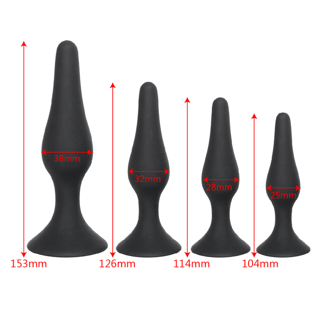 IKOKY Black Anal Plug for Beginners