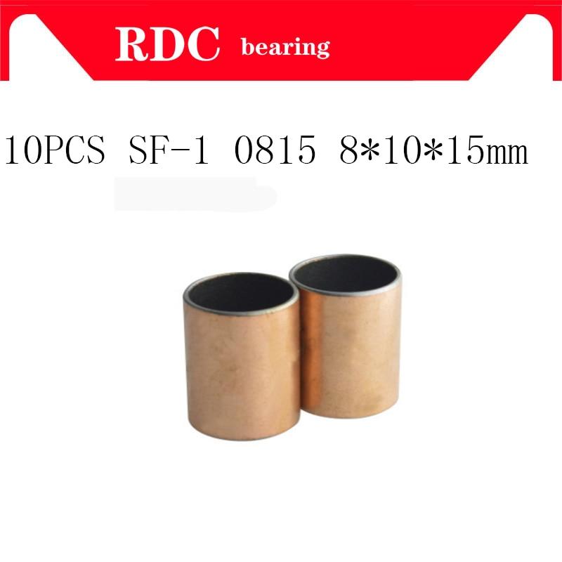 20pcs New SF-1 0815 Self Lubricating Composite Bearing Bushing Sleeve 10*8*15mm