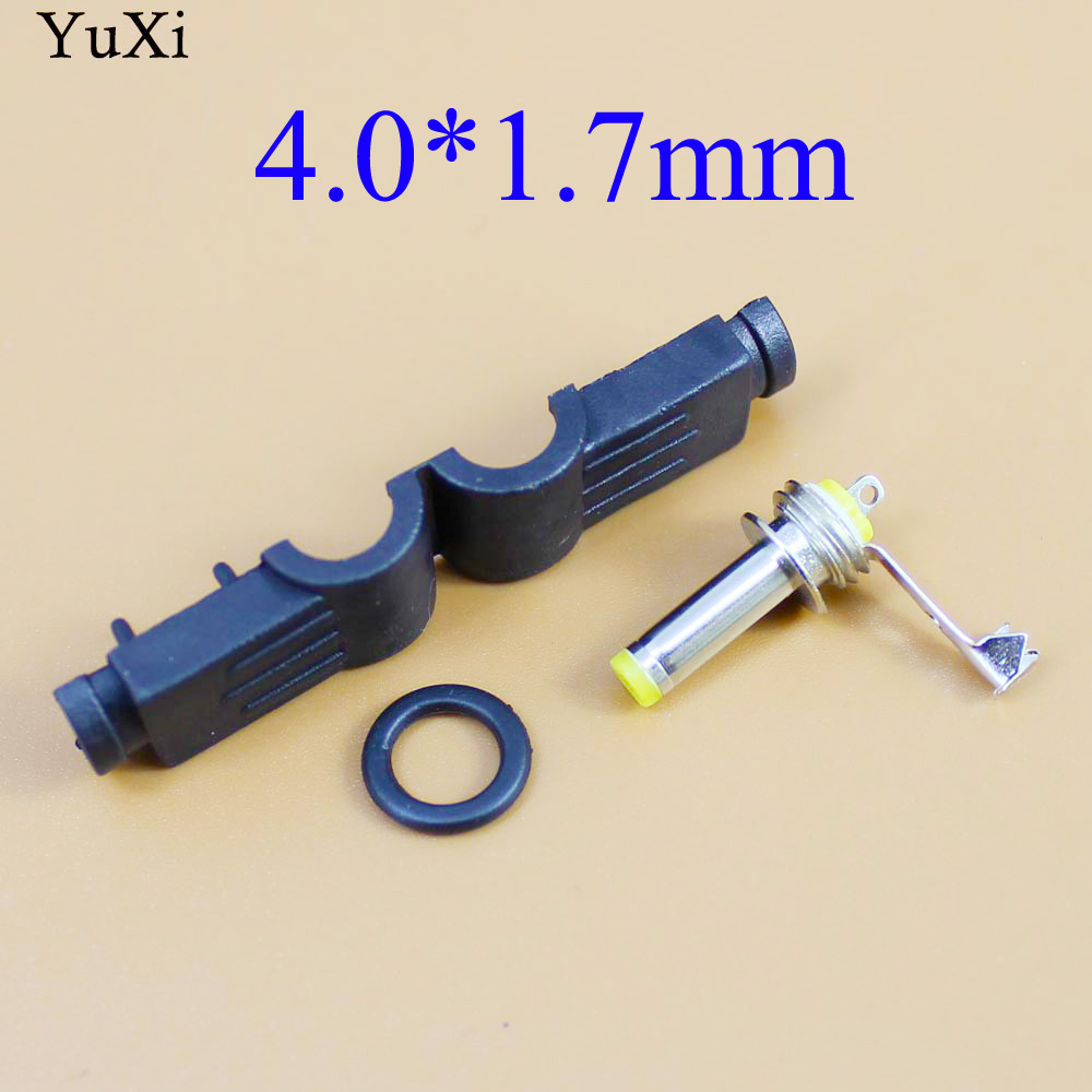 YuXi  DC Power Plug 4.0*1.7 Mm L-shaped Male 90 Right Angle Single Head Jack Adapter Cord Connector 4.0x1.7 Mm  4.0/1.7