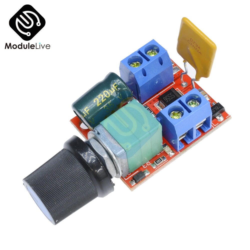 DC Mini Motor PWM Speed Controller 3V-35V Speed Control Switch LED Dimmer 5A