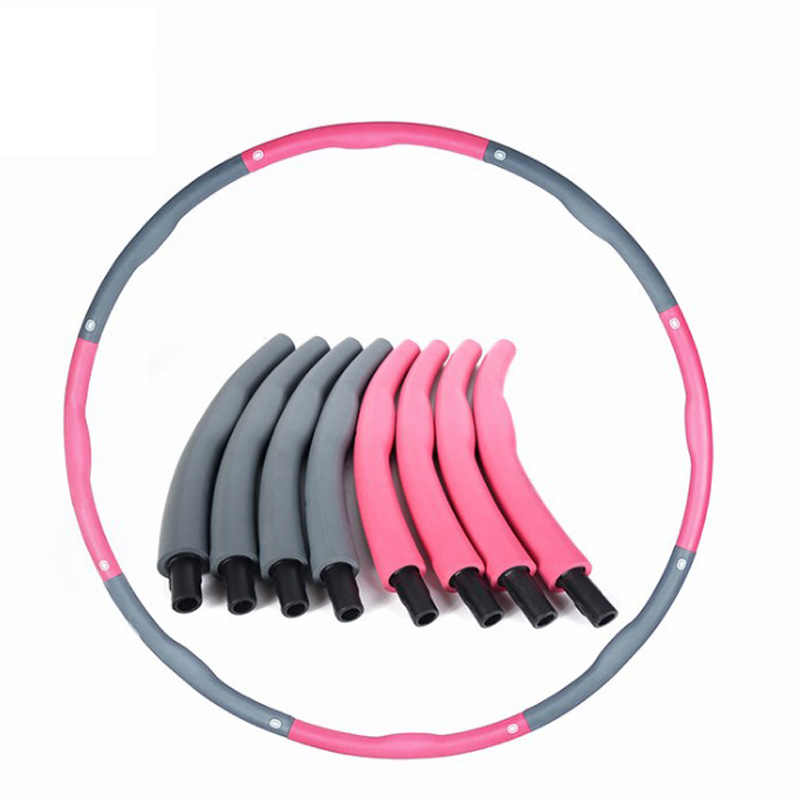 100cm Removable Sport Hoops Abdomen Massage Loops Weight Loss Hard Tube Circle Waist Slimming Fitness Equipment Gymnastics Ring