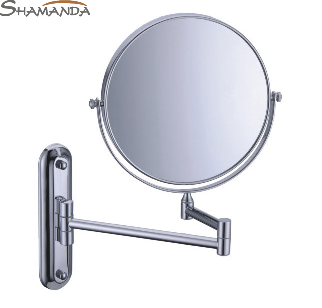 Free Shipping High Quality Solid Brass Chrome Cosmetic Mirror In Wall Mounted Mirrors Bathroom Accessories Products-60020 free shipping high quality bathroom toilet paper holder wall mounted polished chrome