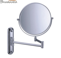 Free Shipping High Quality Solid Brass Chrome Cosmetic Mirror In Wall Mounted Mirrors Bathroom Accessories Products