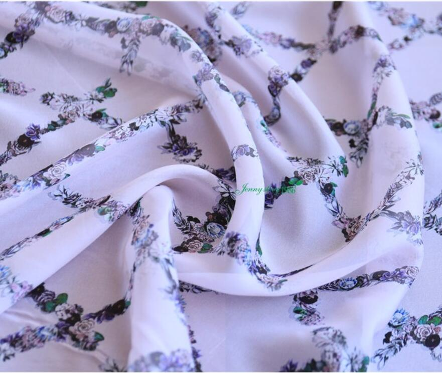 All silk georgette wide butterfly gold cloth fabric scarf sleek Hanfu dress