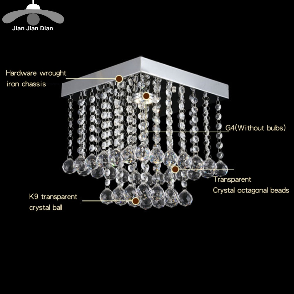JJD Fashion crystal led Chandeliers G4 LED lamps Chandeliers restaurant hallway High power LED chandelier light power fashion