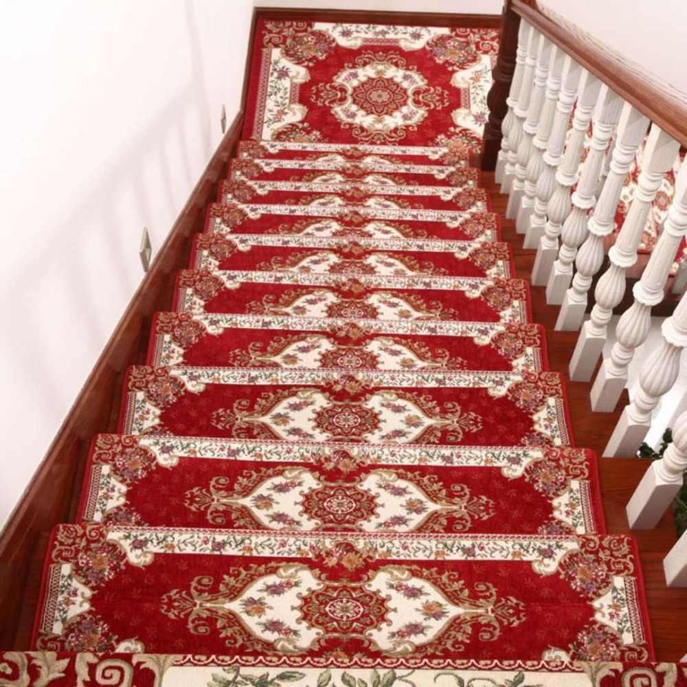 Beibehang High-end Творческий Коврик Европейский гостиной настенные лестницы коврики без клея самоклеящиеся из цельного дерева, нескользящий коврик ковер корридора