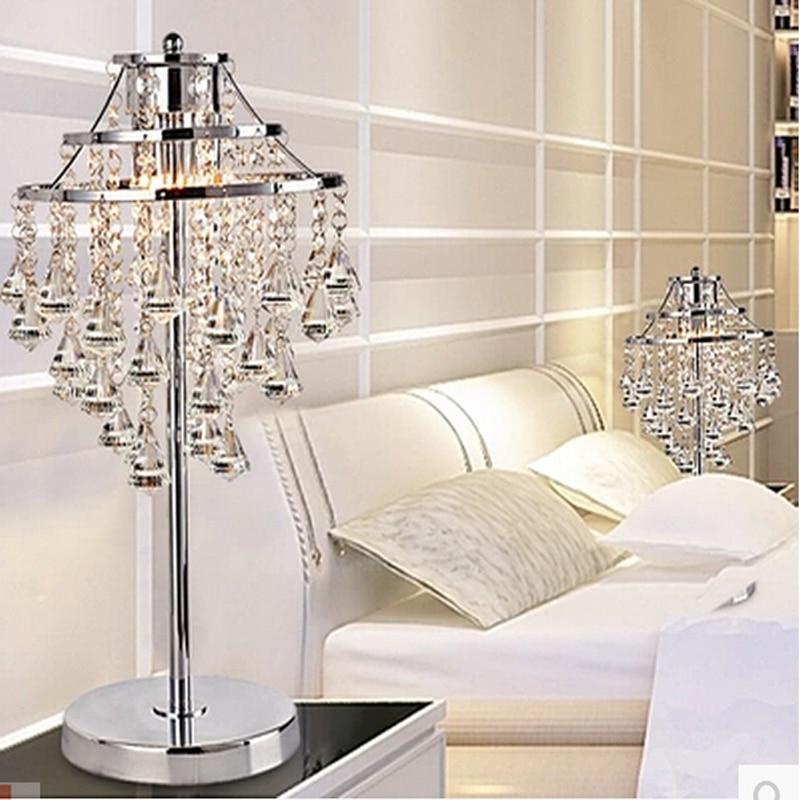 Nuovo breve stile moderno cromo lampada da tavolo di cristallo ...