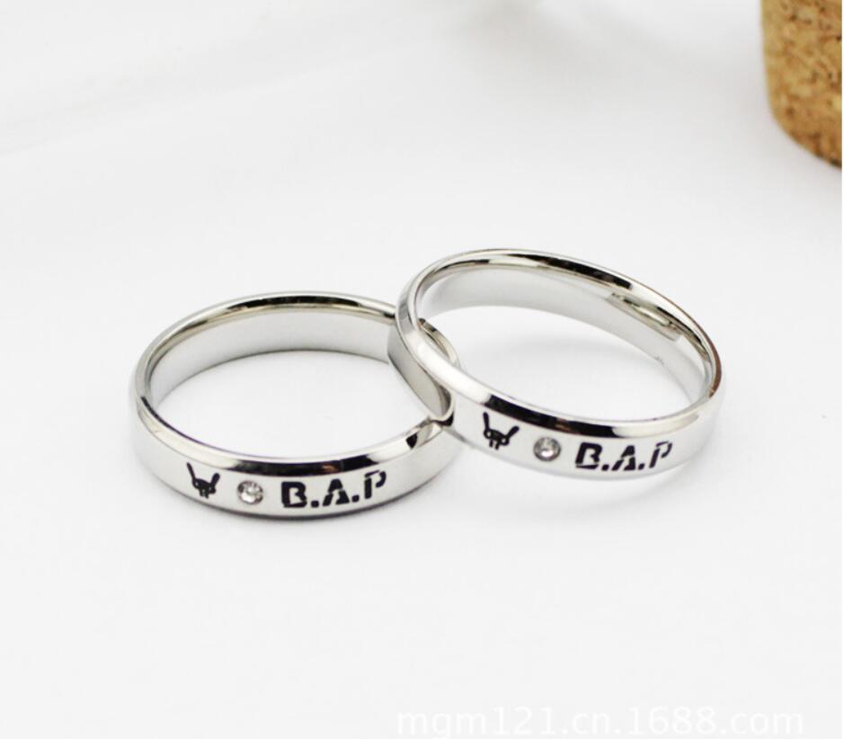 B A P Kpop Perfect Bap Baby Ring Clic Design Shinee Anium Steel Rings Bracelet K Pop On Aliexpress Alibaba Group