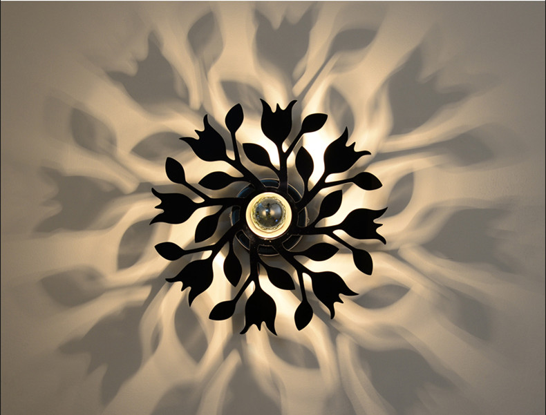 Modern Led Wall Lights For Bedroom Living Room Sconce Black/White Acrylic 30cm E27 Socket Home Decoration Wall Lamp WWL054