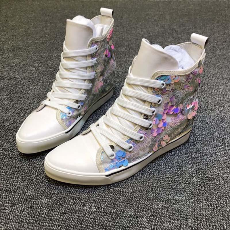 New sneakers women platform shoes chaussures femmes de luxe de marque ladies shoes high top sneakers цена