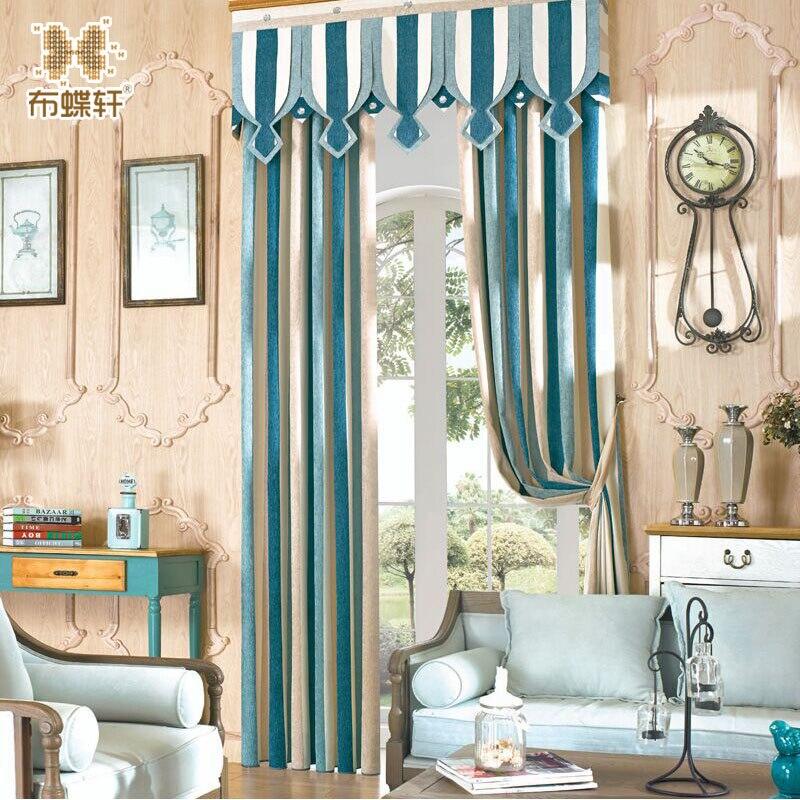 North Europe Style Elegant Blue Striped High Grade