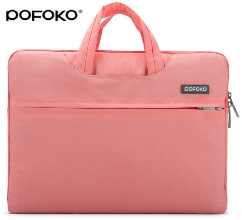 "Pofoko Notebook Laptop Shoulder Carry Bag Case 11 12 13 15/"" 17/"" Apple Macbook"