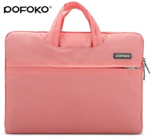 Pofoko Brand new Laptop notebook carry sleeve bag case pouch cover skins For Apple macbook Pro / Air / MCwhite 11 12 13 15 17