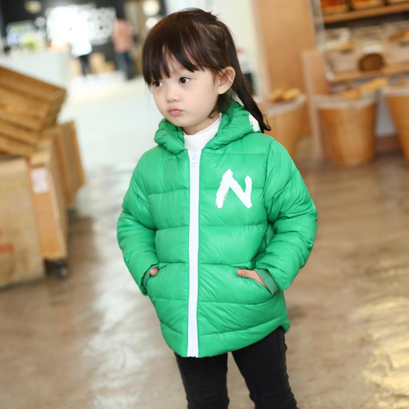 Winter Children Boys Jackets Cartoon Tyrannosaurus Girls Winter Coat Kids Outerwear Baby Boys/Girls Down Jacket Infant Clothes 18