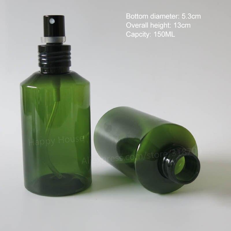 a0b00c13d 24x150 ملليلتر جديد وصول الأخضر فارغة diy pet العطر ميست رذاذ عطر بخاخ 150cc