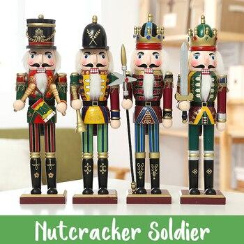 111220aa3 4 piezas 30 CM marioneta de Cascanueces Navidad muñeca de madera regalo para  niños guardia de manualidades soldado nogal juguete adornos decoración del  ...