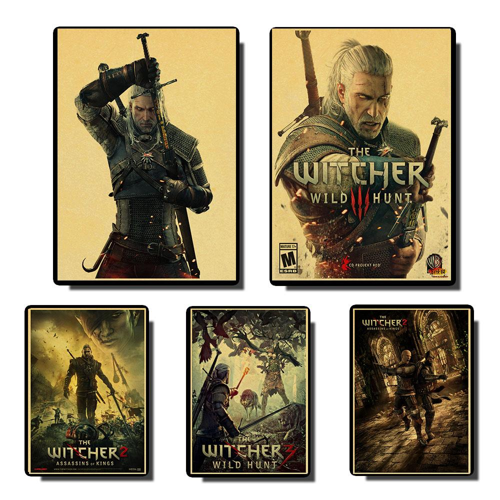 The Witcher Vintage Posters Prints Wall Painting High Quality Decor Poster Wall Painting Home Decoration