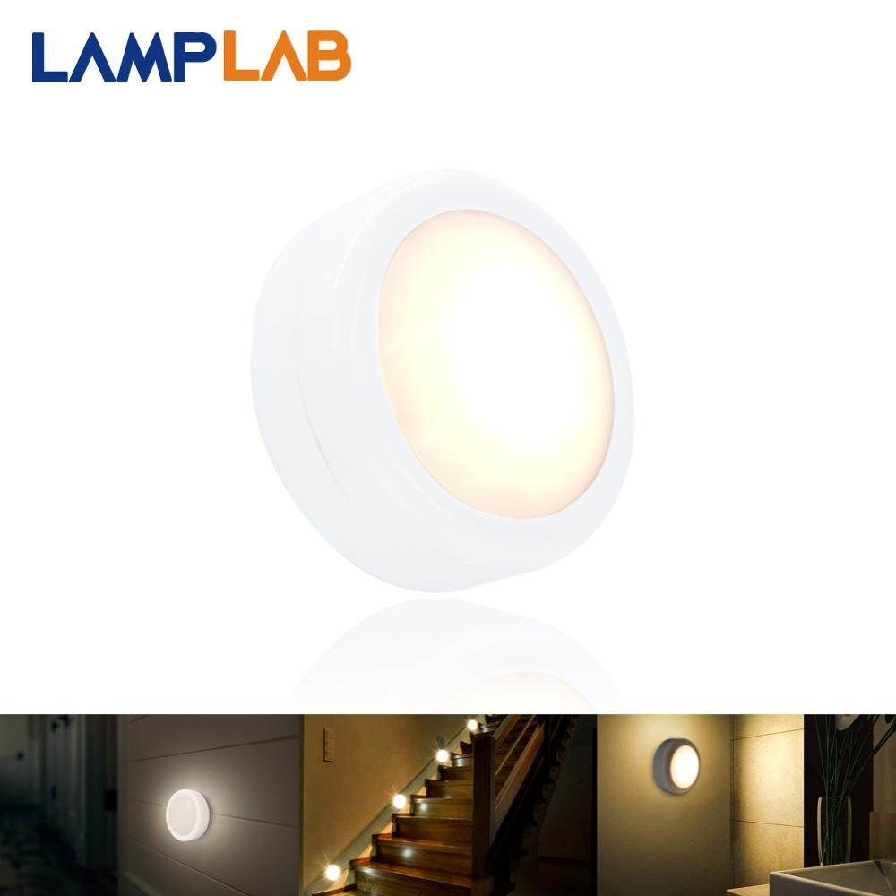 LED Puck Light Under Cabinet Lighting RGB Dimmable Touch 12 Colors Wireless Battery Powered Cupboard Wardrobe Night Lamp