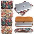 Portable For MacBook Air Pro 13 15 Laptop Bag Canvas Color-leaf Notebook Sleeve Anti-scratch Laptop Sellve Case Cover Pouch