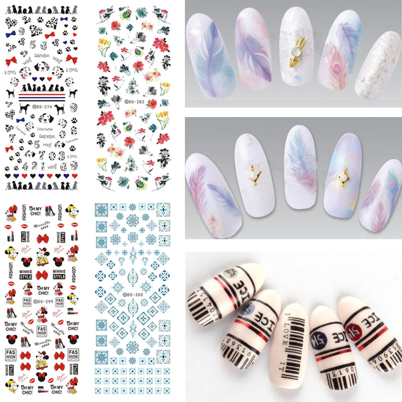 DS271-300 2017 New Water Transfer Stickers Beauty Harajuku Blue Totem Decoration Nail Wraps Sticker Fingernails Decals for Nails ds300 2016 new water transfer stickers for nails beauty harajuku blue totem decoration nail wraps sticker fingernails decals