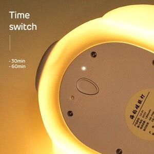 Image 5 - לילה אור רך סיליקון מיני LED מנורת אורות 5 V 1200 3000mahbattery נטענת צבעוני תאורה אינדוקטיביים חמוד בעלי החיים D  hb