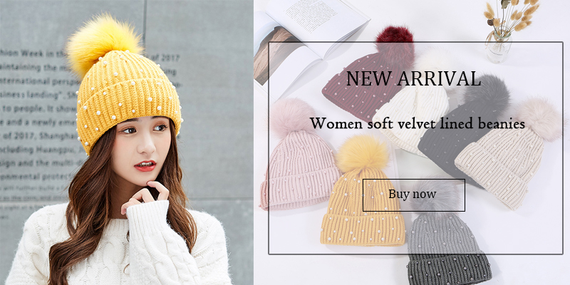 USPOP 2018 New fashion women thick winter hats number label velvet beanies  crimping pompoms knit hats casual warm skulliesUSD 13.16 5b7d6991b5a3