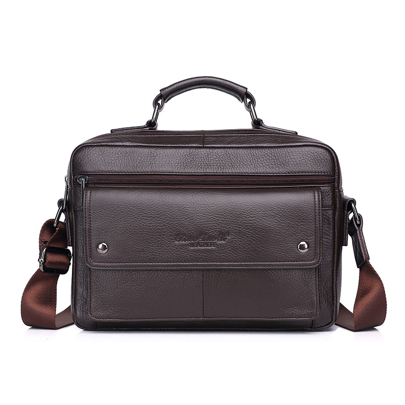 Genuine Leather Messenger Briefcase Cross Body Bags Natural Skin Casual High Quality Men Shoulder Handbag Business