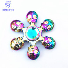 Colorful skull    -spinner Fidget Spinner Steel Hand Spinner  steel Bearing Educational Toys Spinner Hand Anti Stress Toy