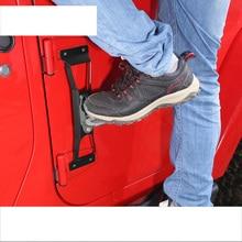 цена на lsrtw2017 stainless steel car door ladder pedal for wrangler jk 2007 2008 2009 2010 2011 2012 2013 2014 2015 2016 2017