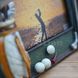Image 5 - Golf ball bag rod 3D resin memorial crafts personalized soft swing sets photo frame birthday gift prize for game club gift
