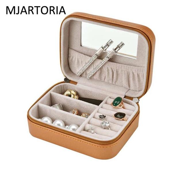 MJARTORIA 2018 Jewelry Box Portable Travel Jewelry Organizer Case