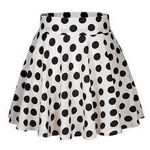 high waist skirt white skirts korean plus size fashion girls 80s costume dot harajuku print streetwear gothic clothes xxl