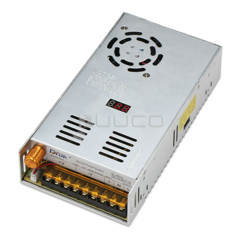 48W Switching Power Supply AC110~220V to DC0 ~ 48V 10A Led Display Adjustable Voltage Regulator DC 12V 24V Power Adapter/Driver ac 85v 265v to 20 38v 600ma power supply driver adapter for led light lamp