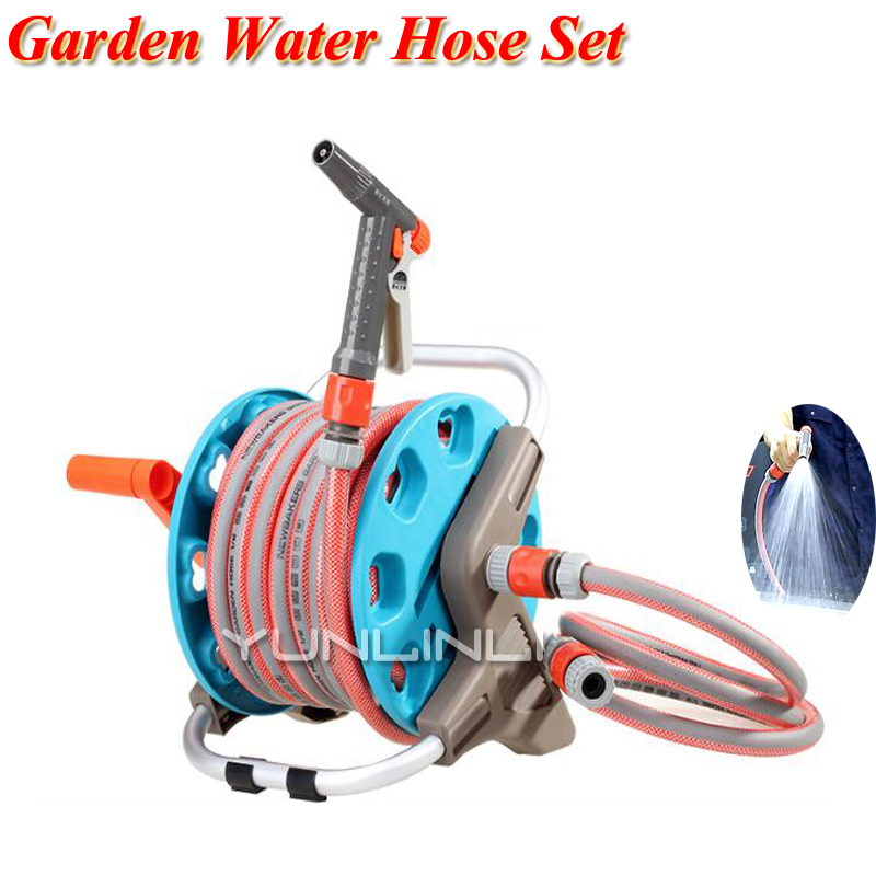 10-20m Flexible Garden Water Hoses Set Plastic Hoses To Watering With Spray Gun Tools Set For Garden Car Household Cleaning
