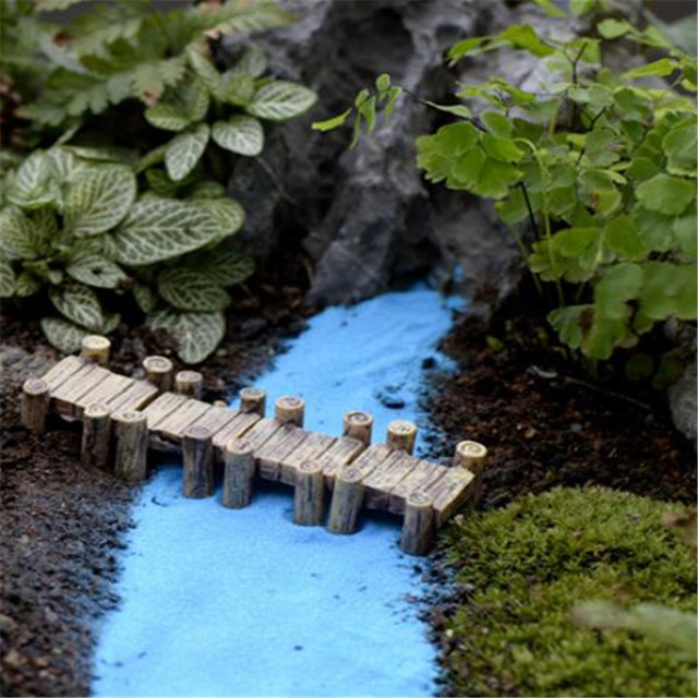 Beautiful 2 PCS Water Corridor Harbour Bridge Miniature Fairy Garden Home Houses  Decoration Mini Craft Micro Landscaping