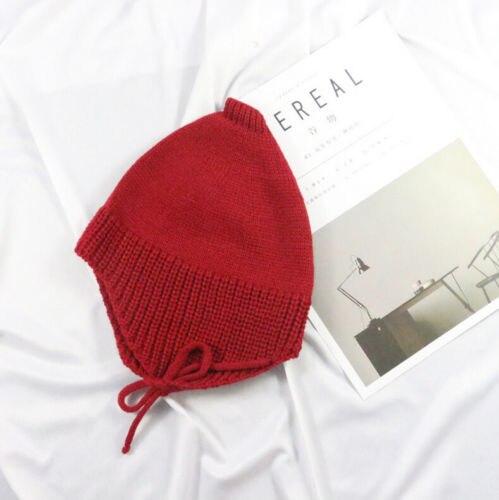 США со детская шапка Большой Пом Bobble подбородка галстук Зима вязаная теплая для девочек 6-12 м