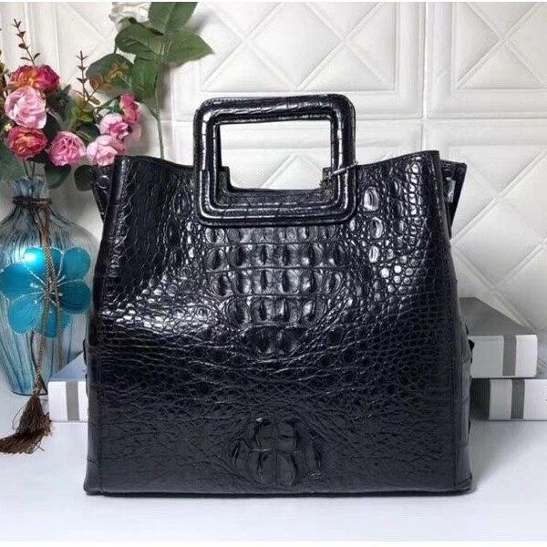 Fantaisie Designer véritable peau de Crocodile dames sac à main d'embrayage croix sac à bandoulière véritable Alligator cuir femme moraillon sac à main