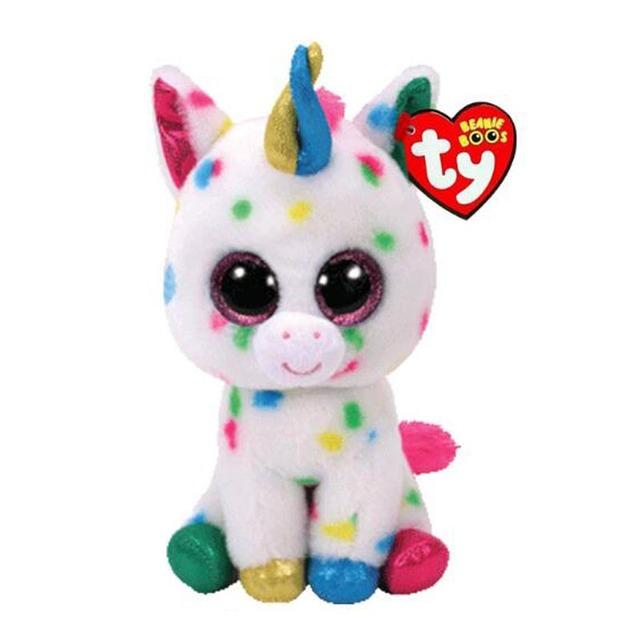 Ty Beanie Boos Elephant and Monkey Plush Doll Toys for Girl Rabbit Fox Cute Animal Owl Unicorn Cat Ladybug With Tag 6″ 15cm